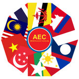ASEAN Economic Community, AEC business community forum, for design present in  Royalty Free Stock Photography