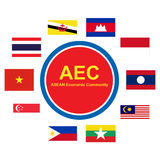 ASEAN Economic Community, AEC business community forum, for design present in  Royalty Free Stock Image