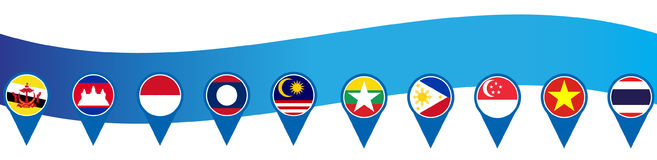 ASEAN Economic Community, AEC business forum, for design present template header background in  Royalty Free Stock Images