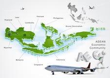 ASEAN Economic Community, AEC. Concept Stock Images