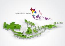 ASEAN Economic Community, AEC. Concept stock illustration