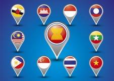 Asean Economic Community AEC Concept Stock Photos