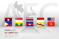 Asean Economic Community (AEC) Royalty Free Stock Photography