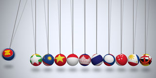 Asean Economic Community Royalty Free Stock Image