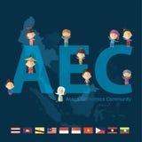 Asean Economics Community(AEC) eps10 format Royalty Free Stock Photo