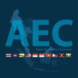 Asean Economics Community(AEC) eps10 format. Asean Economics Community(AEC) eps 10 format Royalty Free Stock Photo