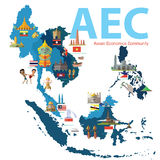 Asean Economics Community (AEC) Royalty Free Stock Photo
