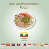 Asean Economics Community AEC food set Stock Photo
