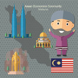 Asean Economics Community AEC Malaysia. Eps 10 format Royalty Free Stock Images