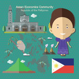 Asean Economics Community AEC Philippines Royalty Free Stock Photography