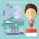 Asean Economics Community AEC Singapore Stock Image