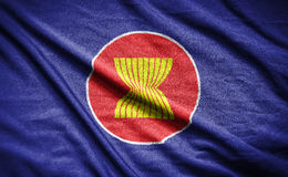 Asean flag.flag on background.  Stock Photography