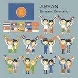 ASEAN-folk Royaltyfria Foton