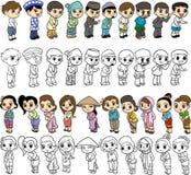 Asean-Karikatur Lizenzfreie Stockfotos