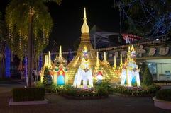 ASEAN-lyktafestival på siam Park City Arkivbild