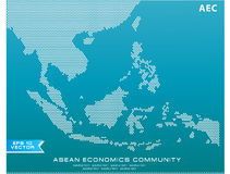Asean Map dotted style illustration, for background Stock Photo