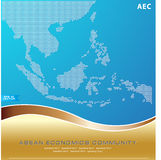 Asean Map dotted style illustration, for background Stock Image