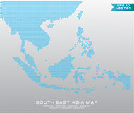 Asean Map dotted style illustration, for background Royalty Free Stock Photography