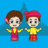 ASEAN Myanmar de bande dessinée Photos libres de droits