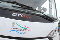 Asean paragames bus Royalty Free Stock Photography