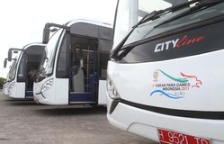 Asean paragames bus Royalty Free Stock Images