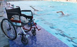 Asean paragames: disabled swimming Royalty Free Stock Photo