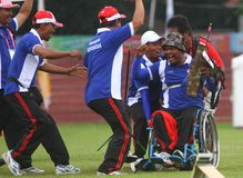 Asean paragames: wheelchair archery Stock Image