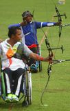 Asean paragames: wheelchair archery Stock Photo