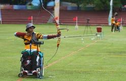 Asean paragames: wheelchair archery Stock Photography