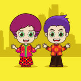 Asean Singapore cartoon Stock Photo