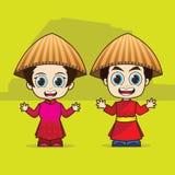 ASEAN Vietnam de bande dessinée illustration stock