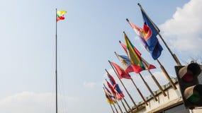 ASEAN-Vlaggen stock afbeeldingen