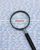 Asegure: algunas de las razones. imagenes de archivo