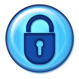 Asegure el botón del Web Foto de archivo libre de regalías