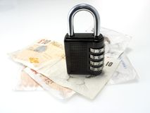 Asegure el dinero Foto de archivo libre de regalías