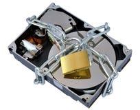 Asegure el disco duro Fotografía de archivo