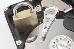 Asegure el mecanismo impulsor de disco duro Fotografía de archivo libre de regalías