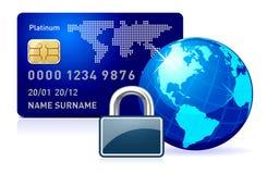 Asegure el pago en línea. stock de ilustración