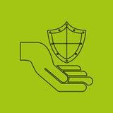 asegure el riesgo del seguro de la protección fotos de archivo