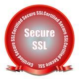 Asegure el sello del SSL Imagen de archivo