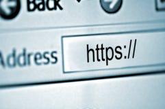 Asegure el Web site Foto de archivo