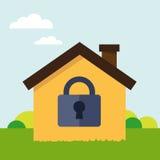 Asegure la casa Imagen de archivo