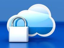 Asegure la nube Foto de archivo libre de regalías