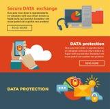 Asegure la página de intercambio de datos y de la protección del programa de Internet con la información libre illustration