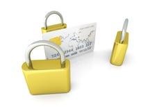 Asegure la tarjeta de cr?dito Imágenes de archivo libres de regalías