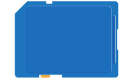 Asegure la tarjeta digital Ilustración del Vector