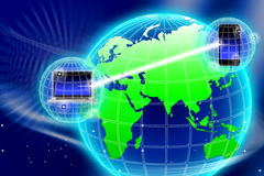 Asegure la tecnología de la información global libre illustration