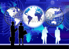 Asegure la tecnología de la información global ilustración del vector