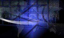 Asegure la tecnología de la información global para parar fraude stock de ilustración