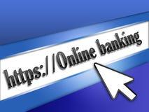 Asegure las actividades bancarias en línea ilustración del vector
